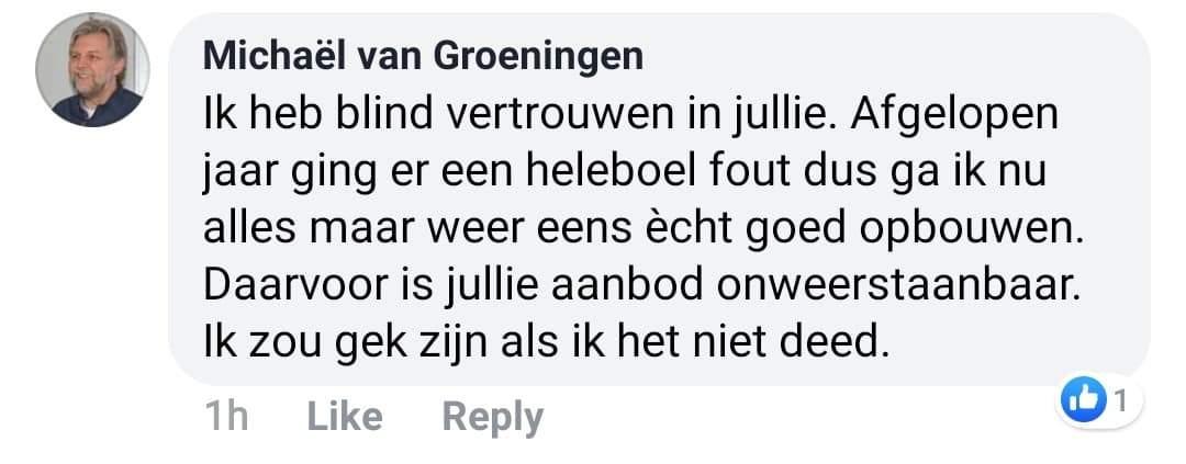 testimonial michael van groeningen