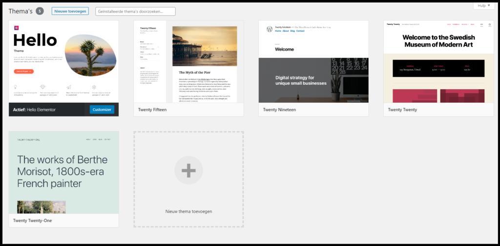 Website voor Dummies: WordPress thema's